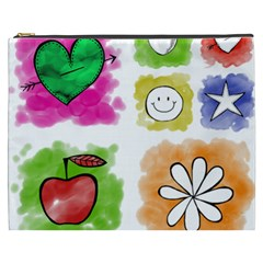 A Set Of Watercolour Icons Cosmetic Bag (XXXL)