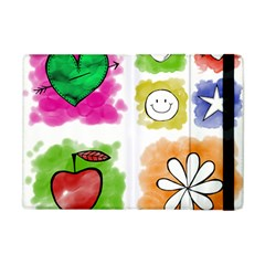 A Set Of Watercolour Icons Apple Ipad Mini Flip Case by Amaryn4rt