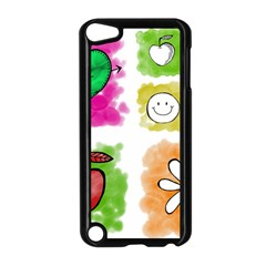 A Set Of Watercolour Icons Apple iPod Touch 5 Case (Black)