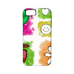 A Set Of Watercolour Icons Apple iPhone 5 Classic Hardshell Case (PC+Silicone)