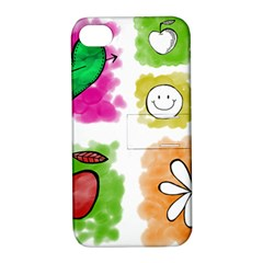 A Set Of Watercolour Icons Apple iPhone 4/4S Hardshell Case with Stand