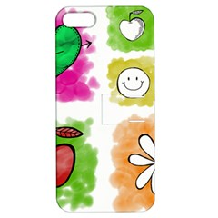 A Set Of Watercolour Icons Apple iPhone 5 Hardshell Case with Stand