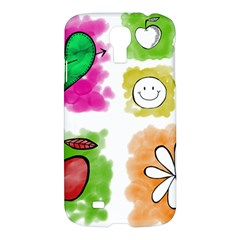 A Set Of Watercolour Icons Samsung Galaxy S4 I9500/I9505 Hardshell Case