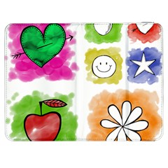 A Set Of Watercolour Icons Samsung Galaxy Tab 7  P1000 Flip Case