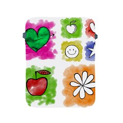 A Set Of Watercolour Icons Apple iPad 2/3/4 Protective Soft Cases
