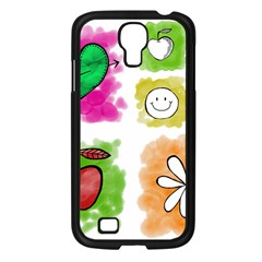 A Set Of Watercolour Icons Samsung Galaxy S4 I9500/ I9505 Case (Black)