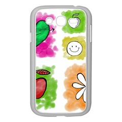 A Set Of Watercolour Icons Samsung Galaxy Grand DUOS I9082 Case (White)