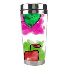 A Set Of Watercolour Icons Stainless Steel Travel Tumblers