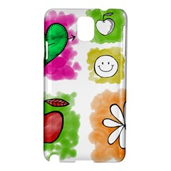 A Set Of Watercolour Icons Samsung Galaxy Note 3 N9005 Hardshell Case