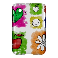 A Set Of Watercolour Icons Samsung Galaxy Tab 2 (7 ) P3100 Hardshell Case