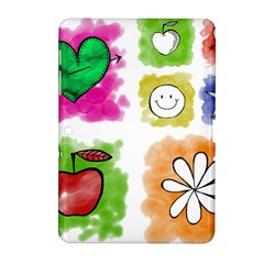 A Set Of Watercolour Icons Samsung Galaxy Tab 2 (10.1 ) P5100 Hardshell Case