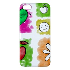 A Set Of Watercolour Icons iPhone 5S/ SE Premium Hardshell Case