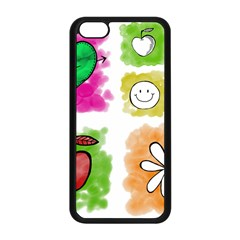 A Set Of Watercolour Icons Apple iPhone 5C Seamless Case (Black)