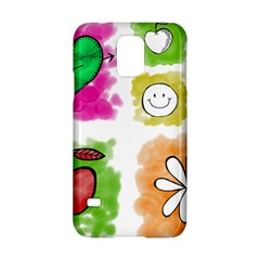 A Set Of Watercolour Icons Samsung Galaxy S5 Hardshell Case