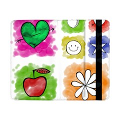 A Set Of Watercolour Icons Samsung Galaxy Tab Pro 8.4  Flip Case