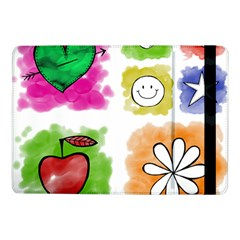 A Set Of Watercolour Icons Samsung Galaxy Tab Pro 10.1  Flip Case