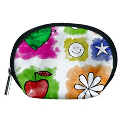 A Set Of Watercolour Icons Accessory Pouches (Medium)