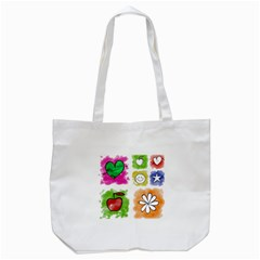 A Set Of Watercolour Icons Tote Bag (White)