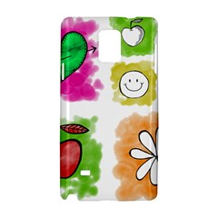 A Set Of Watercolour Icons Samsung Galaxy Note 4 Hardshell Case