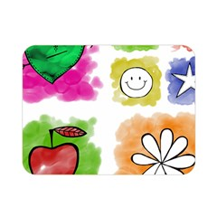 A Set Of Watercolour Icons Double Sided Flano Blanket (Mini)
