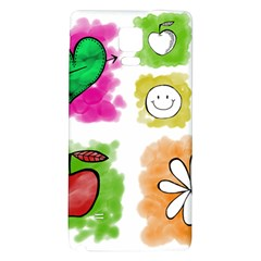A Set Of Watercolour Icons Galaxy Note 4 Back Case