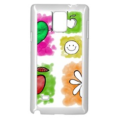A Set Of Watercolour Icons Samsung Galaxy Note 4 Case (White)