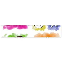 A Set Of Watercolour Icons Flano Scarf (Small)