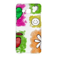 A Set Of Watercolour Icons Samsung Galaxy A5 Hardshell Case