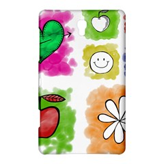 A Set Of Watercolour Icons Samsung Galaxy Tab S (8.4 ) Hardshell Case