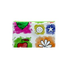 A Set Of Watercolour Icons Cosmetic Bag (XS)