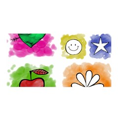A Set Of Watercolour Icons Satin Wrap by Amaryn4rt