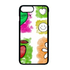 A Set Of Watercolour Icons Apple iPhone 7 Plus Seamless Case (Black)