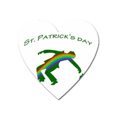 St  Patricks Heart Magnet by Valentinaart