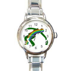 St  Patricks Round Italian Charm Watch by Valentinaart