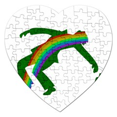 St  Patricks Jigsaw Puzzle (heart) by Valentinaart