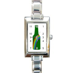St  Patricks Rectangle Italian Charm Watch by Valentinaart