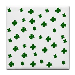 St  Patrick s Clover Pattern Tile Coasters by Valentinaart