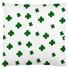 St  Patrick s Clover Pattern Large Cushion Case (two Sides) by Valentinaart