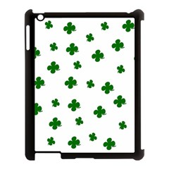St  Patrick s Clover Pattern Apple Ipad 3/4 Case (black) by Valentinaart