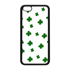 St  Patrick s Clover Pattern Apple Iphone 5c Seamless Case (black) by Valentinaart