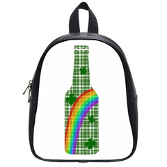 St  Patricks Day   Bottle School Bags (small)  by Valentinaart