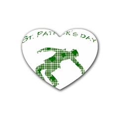 St  Patrick s Day Rubber Coaster (heart)  by Valentinaart