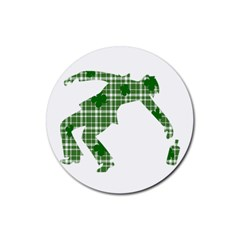 St  Patrick s Day Rubber Coaster (round)  by Valentinaart