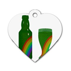 St  Patrick s Day Dog Tag Heart (two Sides) by Valentinaart