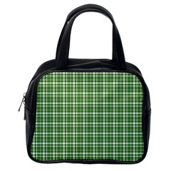 St  Patricks Day Plaid Pattern Classic Handbags (one Side) by Valentinaart