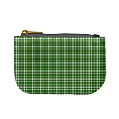 St  Patricks Day Plaid Pattern Mini Coin Purses by Valentinaart