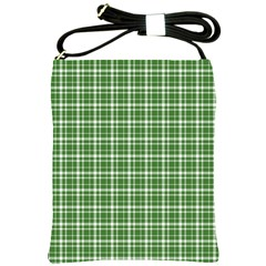 St  Patricks Day Plaid Pattern Shoulder Sling Bags