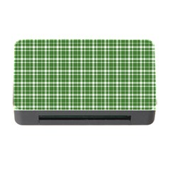 St  Patricks Day Plaid Pattern Memory Card Reader With Cf
