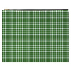 St  Patricks Day Plaid Pattern Cosmetic Bag (xxxl)