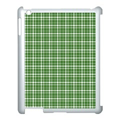 St  Patricks Day Plaid Pattern Apple Ipad 3/4 Case (white) by Valentinaart